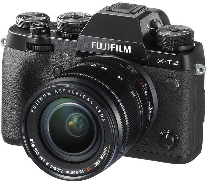 Fujifilm X-T2 + XF 18-55mm, černá