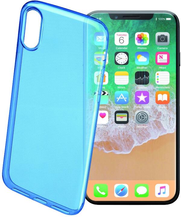 CellularLine COLOR barevné gelové pouzdro pro Apple iPhone X, modré