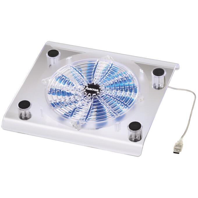 """Hama chladící stojan Maxi Cooler pro notebook 17.3"""", transparentní"""