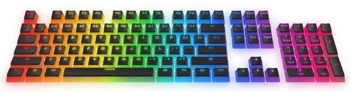 SPC Gear vyměnitelné klávesy KC104 Pudding, Kailh, 104 kláves, černé/průhledné, US