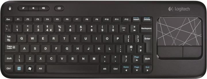 Logitech Wireless Touch Keyboard K400, CZ