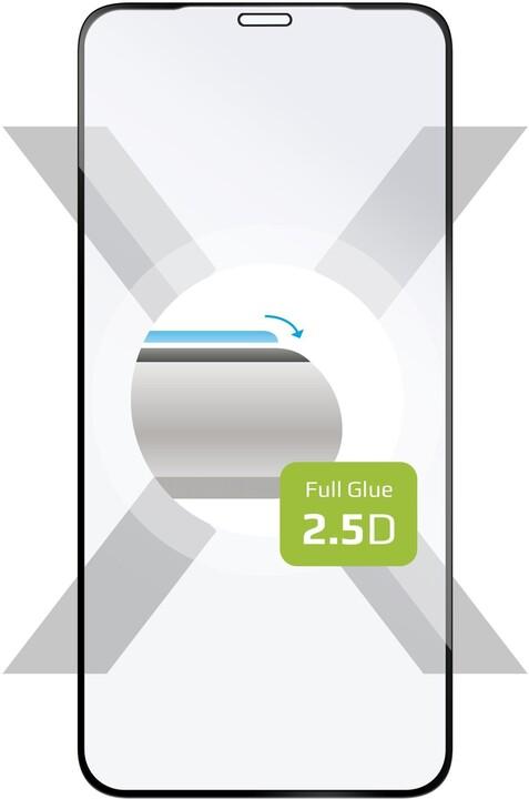 FIXED ochranné tvrzené sklo Full-Cover pro iPhone XS Max/11 Pro Max, lepení přes celý displej, černá