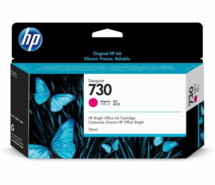 HP 730, P2V62A, 130ml, purpurová