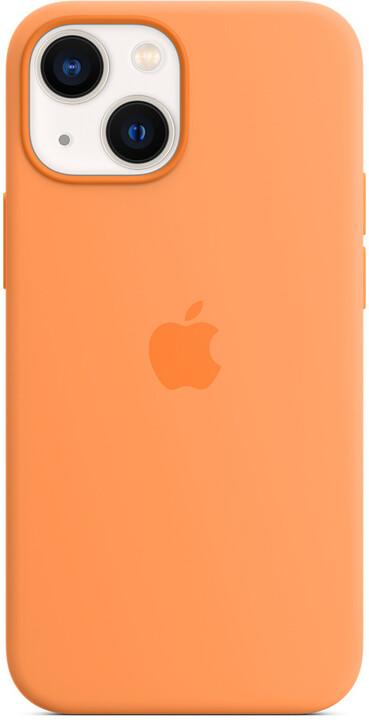 Apple silikonový kryt s MagSafe pro iPhone 13 mini, měsíčkově žlutá