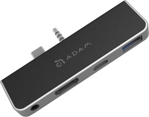 Adam elements Casa Hub S4h 4 in 1 Hub for Surface Go/Go2 (3y warranty), stříbrná