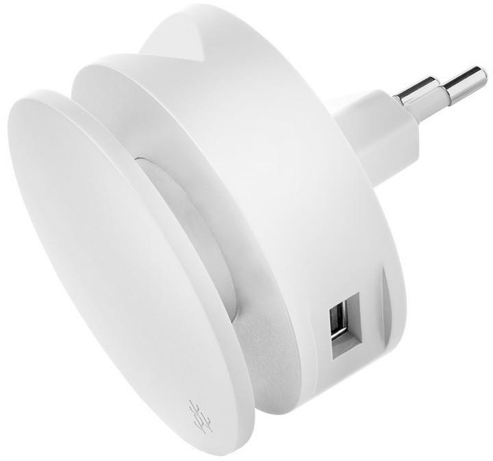 USBEPower AERO MINI charger 2USB ports cable, bílá