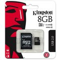 Kingston Micro SDHC 8GB Class 10 UHS-I + SD adaptér