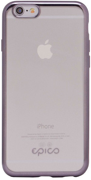 EPICO pružný plastový kryt pro iPhone 6/6S BRIGHT - šedá