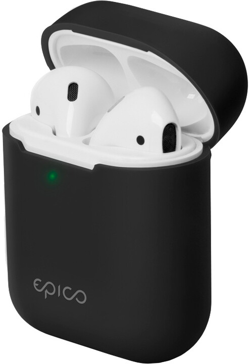 EPICO silikonový pouzdro pro Airpods Gen 2, černá