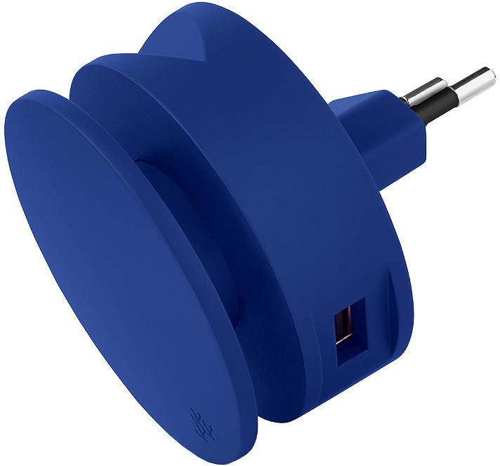 USBEPower AERO MINI charger 2USB ports cable, modrá