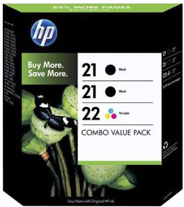 HP SD400AE, no. 21/22, 3pack