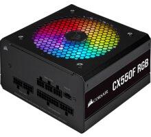 Corsair CX550F RGB - 550W, černá - CP