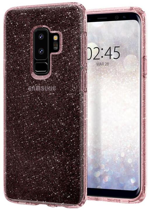 Spigen Liquid Crystal Glitter pro Samsung Galaxy S9+, rose