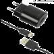 FIXED síťová nabíječka s odnímatelným USB-C kabelem, 2,4A, černá