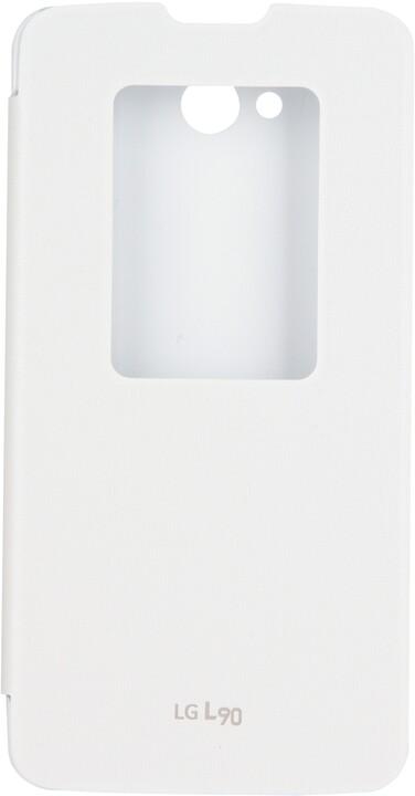 LG flipové pouzdro QuickWindow CCF-380 pro LG L90, bílá