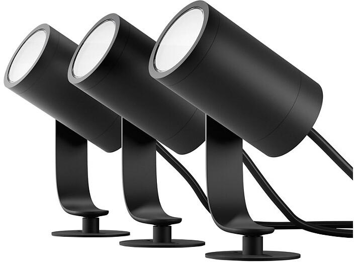 PHILIPS Lily Venkovní bodové světlo, Hue White and color ambiance, 230V, 3x8W integr.LED, černá