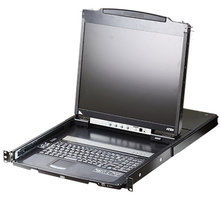 """ATEN konzole CL5800 - USB, PS/2, 19"""" LCD, US klávesnice - CL5800N-ATA-2XK06A1G"""