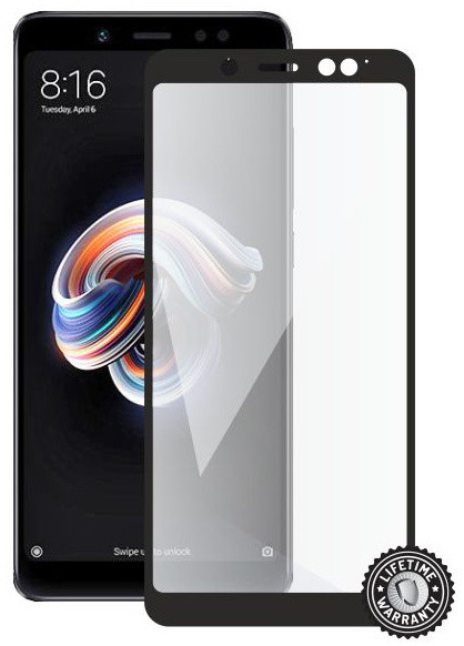 Screenshield ochrana displeje Tempered Glass pro XIAOMI RedMi Note 5 (full cover), černá