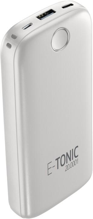CellilarLine powerbanka E-Tonic, 20000mAh, USB, 10W, bílá