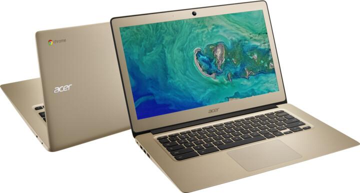 Acer Chromebook 14 celokovový (CB3-431-C5PK), zlatá