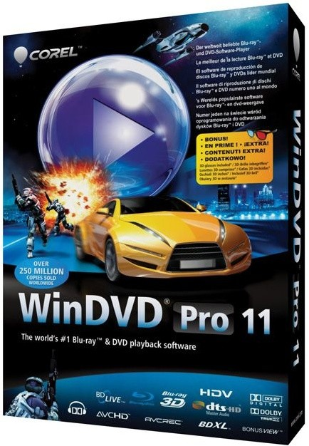 Corel WinDVD Pro 11 Mini box