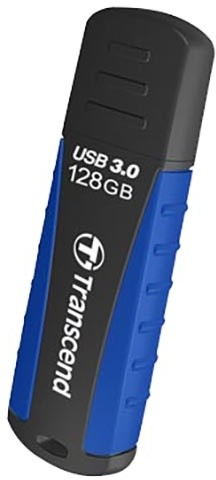 Transcend JetFlash 810 128GB, černá/modrá