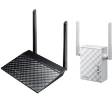 ASUS N300 Wi-Fi KIT - Router RT-N12plus + Repeater RP-N12