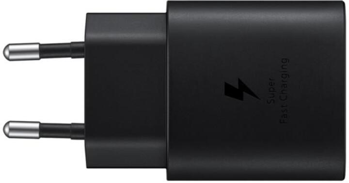 Samsung napájecí adaptér s rychlonabíjením, 25W, černá