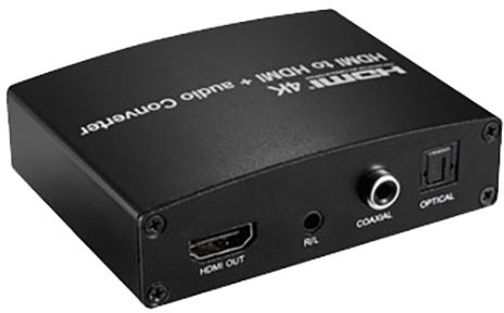 PremiumCord HDMI 4K Repeater/Extender s oddělením audia, stereo jack, Toslink, RCA