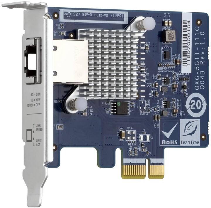 QNAP QXG-5G1T-111C jednoportová síťová rozšiřující karta 5GbE