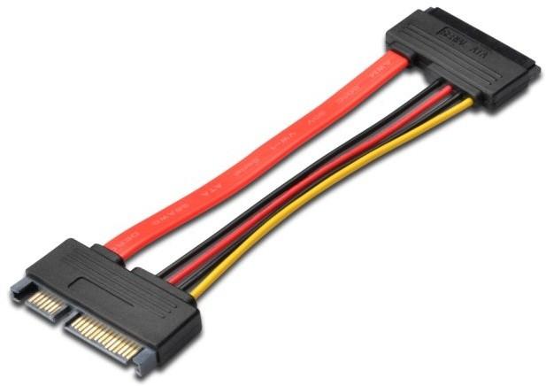 PremiumCord prodlužovací SATA datový + napájecí 15cm