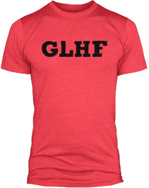 Tričko League of Legends GLHF, červená (US M / EU L)