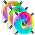 Corsair QL120 RGB, 3x120mm, Lighting Node CORE, bílý