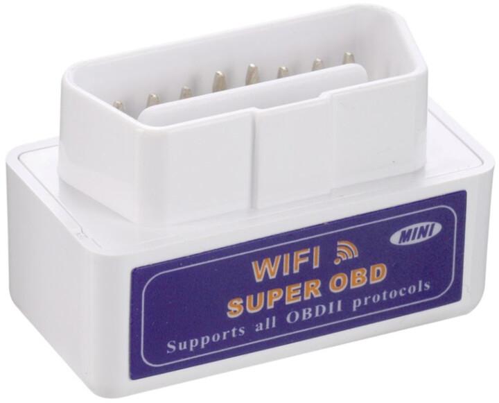 Super Mini ELM327 WiFi OBD2 automobilová diagnostická jednotka
