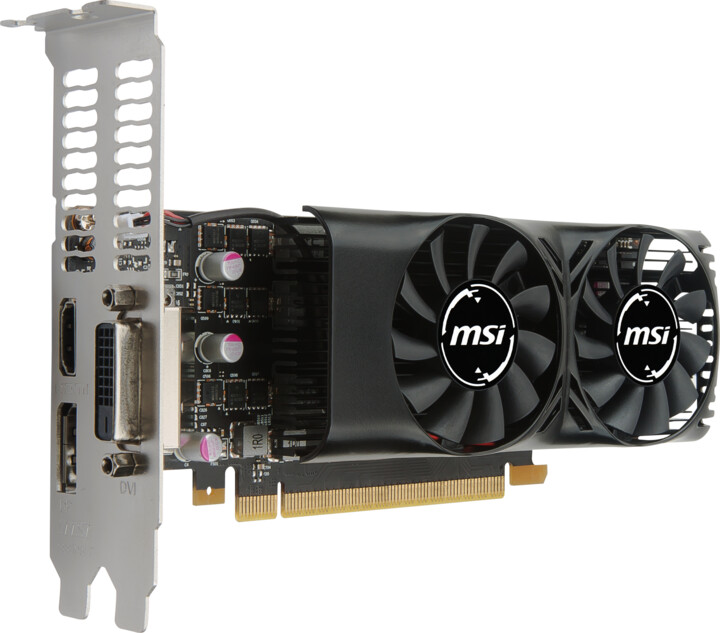 MSI GeForce GTX 1050 2GT LP, 2GB GDDR5
