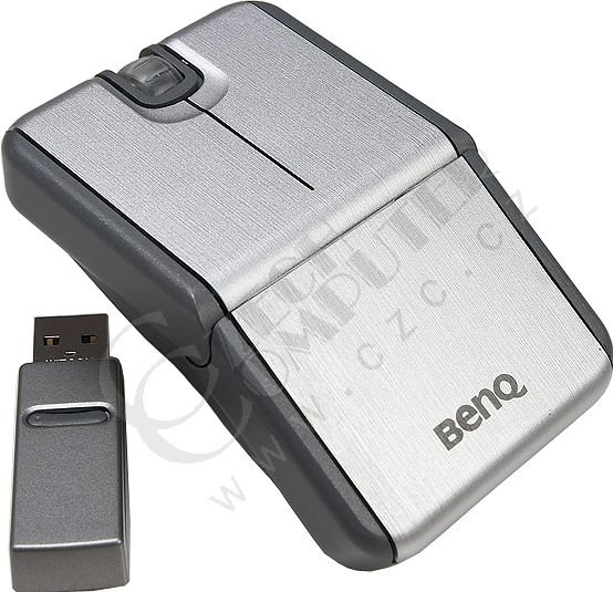 BenQ S-700 Wireless optical USB, retail, stříbrná