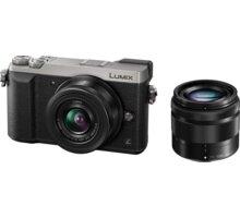 Panasonic Lumix DMC-GX80, stříbrná + 12-32 mm + 35-100 mm - DMC-GX80WEGS