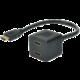 Digitus rozbočovač HDMI - 2x HDMI, M/F, pozlacené konektory, 20cm, černá