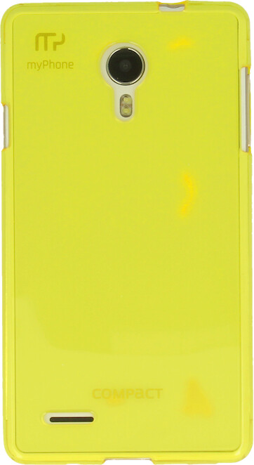 myPhone silikonové pouzdro pro Compact, transparentní žlutá
