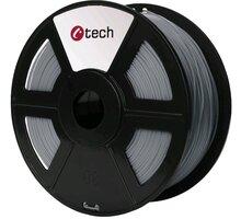 C-TECH tisková struna (filament), PLA, 1,75mm, 1kg, světle šedá
