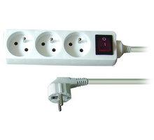 Prodlužovací kabel 230V 1,5m - 3x zásuvka, vypínač - PP10