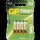 GP Super Value, alkalická, AAA, 4ks LR03