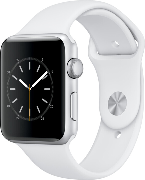 Apple Watch 2 42mm Silver Aluminium Case with White Sport Band