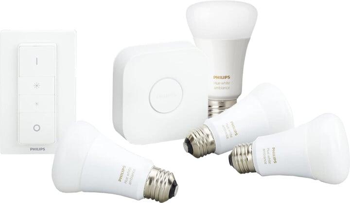 Philips Hue White Ambiance Starter kit + 2 žárovky White Ambiance BT