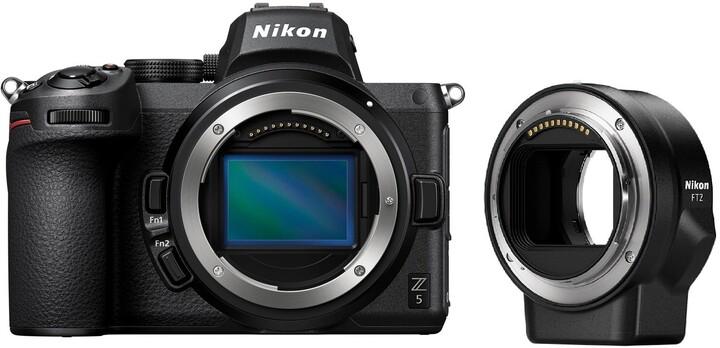 Nikon Z 5 + FTZ adaptér