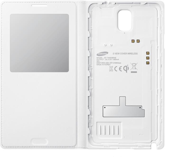 Samsung EF-TN900BW flip S-view Wireless pro Note 3, bílá