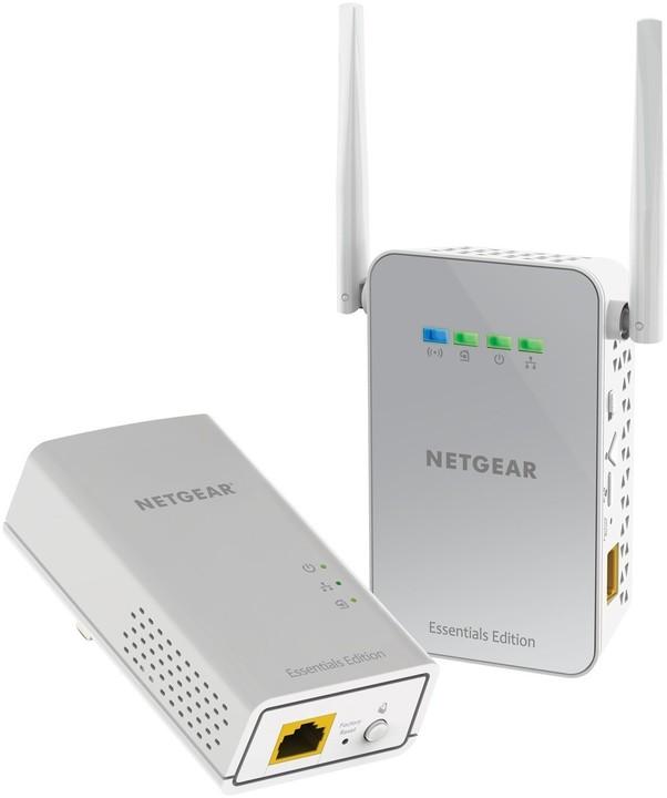 NETGEAR Powerline 1000Mbps 1PT GbE Adapters Bundel (PLW1000), AC650