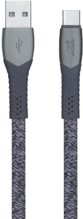 RivaCase Riva PS6102 GR12 USB-C kabel 1.2m, šedá