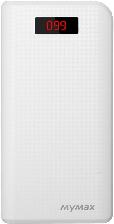 iMyMax Carbon Power Bank 30.000mAh, bílá