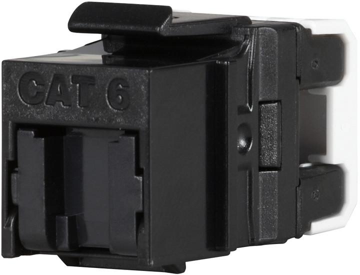 Solarix rychlozařezávací keystone CAT6 UTP RJ45 černý pro kleště SXKJ-NA-BU
